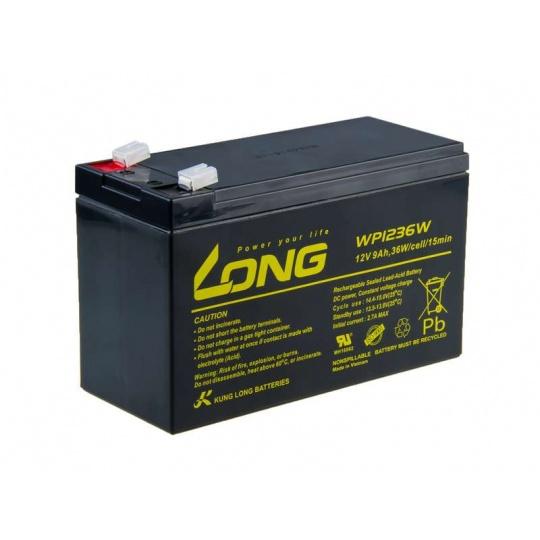 Long 12V 9Ah olověný akumulátor HighRate F2