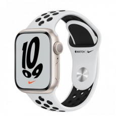 Apple Watch Nike Series 7, 41mm Star./Plat./Black Nike SportBand