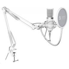 SPC Gear mikrofon SM950 Onyx White / drátový / streamovací / pop filtr / držák proti otřesům / USB / bílá