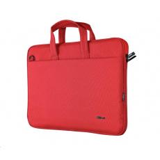 """TRUST Pouzdro na notebook 16"""" Bologna Slim Laptop Bag Eco, červená"""