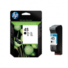 HP 45 Black Ink Cart, 42 ml, 51645AE