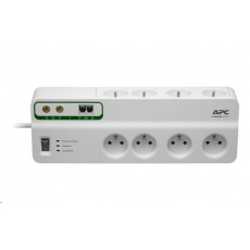 APC Performance SurgeArrest 8 outlets with Phone & Coax Protection 230V France, 2.7m