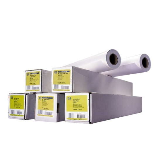 HP Universal Bond Paper-610 mm x 45.7 m (24 in x 150 ft),  4.2 mil,  80 g/m2. 150 ft, Q1396A
