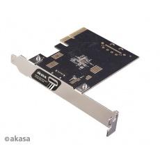 AKASA síťová karta USB 3.2 HOST card, 20Gbps USB 3.2 Gen 2x2 Type-C to PCIe Host Card