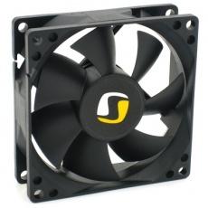 Rozměry (mm): 80x80x25 Rychlost otáček (RPM): 1400 Průtok vzduchu: 27,9 CFM (47,43 m3h) Hlučnost: 13,9 dB / A Ložiska: FDB (Fluid Dynamic Bearing) Napětí: 12V Proud: 0.16A Konektor: 3 pin, kabel MTBF: 50.000 h