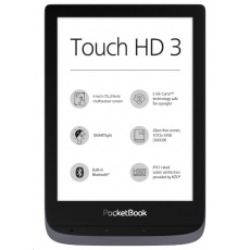 POCKETBOOK 632 Touch HD 3, Metallic Grey, 16GB