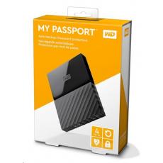 "BAZAR VADNE - WD My Passport 4TB Ext, 2,5"" USB3.0, BLACK"