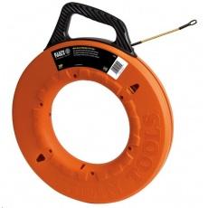 Protahovací pero Klein Tools, sklolaminátové jádro, délka 30m, průměr 4.8mm, zakončení s ocelovou spirálou, made in USA