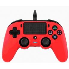 Nacon Wired Compact Controller - ovladač pro PlayStation 4 - červený