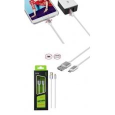 PLUS datový a nabíjecí kabel K3371, konektor micro USB oboustranný, bílá