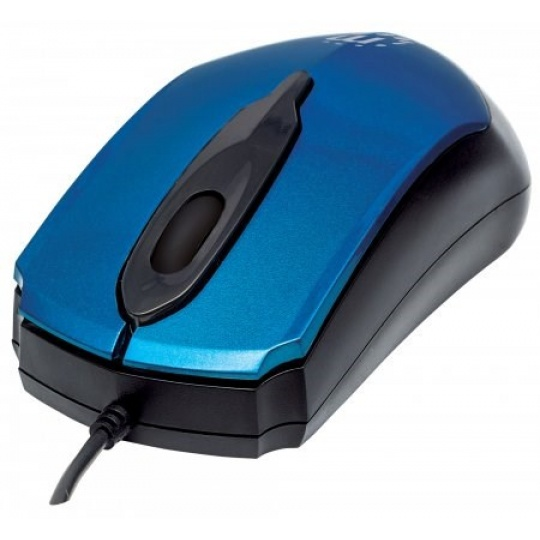 MANHATTAN Myš Edge, USB optická, 1000 dpi, modrá