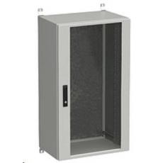 Solarix rozvaděč nástěnný venkovní LC-20 24U 600x600mm, dveře sklo, LC-20-24U-66-12-G