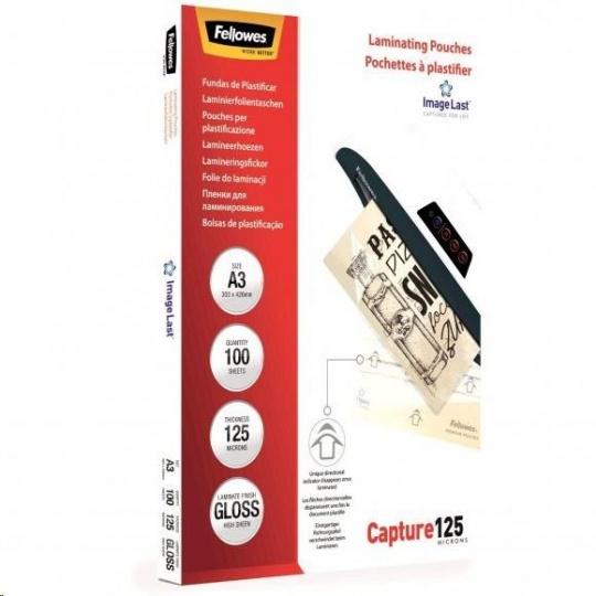 Laminovací fólie Fellowes A3 125 mic ImageLast, balení 100 ks