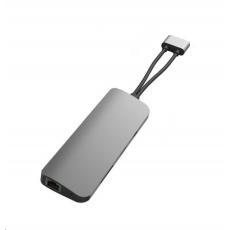HyperDrive VIPER 10 ve 2 USB-C Hub, stříbrný