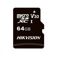 HIKVISION MicroSDXC karta 64GB C1 (R:92MB/s, W:30MB/s) + adapter