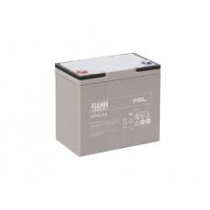 Baterie - Fiamm 12 FGL55 (12V/55Ah - M6)  životnost 10let