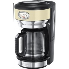 Russell Hobbs 21702 Kávovar - RETRO glass cream