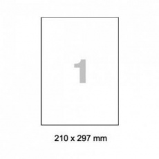 RAYFILM Fólia matná biela samolepiaca laser 100ks/A4  *R05021123A