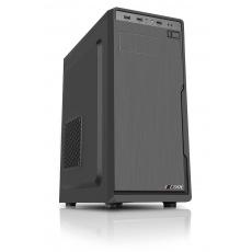 1stCOOL skříň JAZZ 1, Midi Tower, AU, USB 3.0, bez zdroje, Black