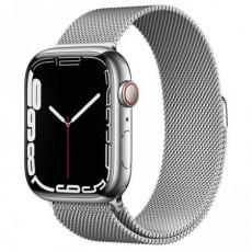 Apple Watch Series 7 Cell, 45mm Silver/Steel/Silver Mil.Loop