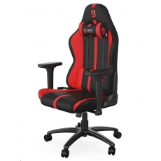 SPC Gear herní židle SR400F / textilní / černo-červená