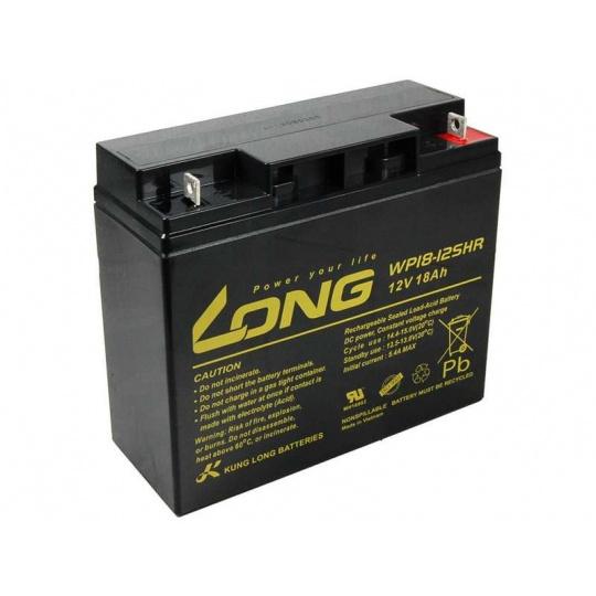 Long 12V 18Ah olověný akumulátor HighRate F3