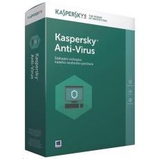 Kaspersky Anti-Virus 2019 CZ, 3PC, 1 rok, obnovení licence, elektronicky