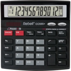 REBELL kalkulačka - CC555+ - černá