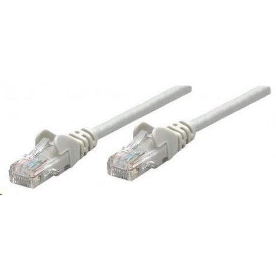 Intellinet patch kabel, Cat6 Certified, CU, UTP, PVC, RJ45, 0.25m, šedý
