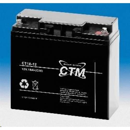 Baterie - CTM CT 12-18 (12V/18Ah - M5), životnost 5let