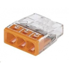 CONRAD Svorka Wago, 0,5 - 2,5 mm2, 3pólová, transparentní/oranžová