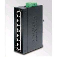 Planet switch ISW-801T, 8x 10/100, DIN,IP30, rozšířený teplotní rozsah -40~75 st.C