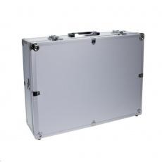 Doerr Kufr ALU-1 (44,5x32,5x13,5 cm, 2,6 kg, molitan.výplň, stříbrný)