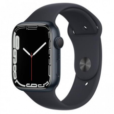 Apple Watch Series 7, 45mm Midnight/Midnight SportBand