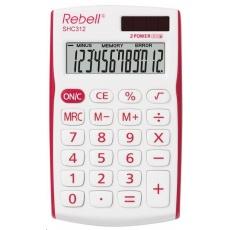REBELL kalkulačka - SHC312 RD - červená