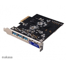 AKASA síťová karta USB 3.2 HOST card, 10Gbps USB 3.2 Gen 2 Type-C and Type-A to PCIe Host Card