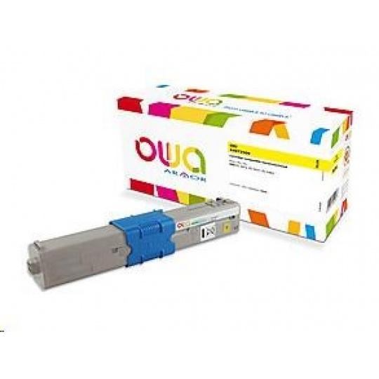 OWA Armor toner pro OKI C3300, C3400, C3450, C3600, 6000 Stran, 44973509, žlutá/yellow