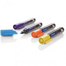Popisovač Magnetoplan barvy sada  Pro, světle modrá, fialová, žlutá, oranžová