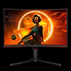 """AOC MT VA LCD WLED 27"""" C27G3U/BK - VA panel, 1920x1080, 165Hz, 2xHDMI, DP, USB 3.2, repro, nast. vyska, zarkiven"""