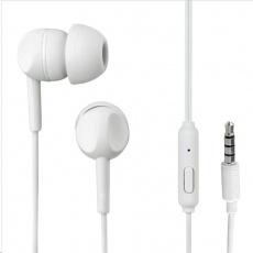 Thomson sluchátka s mikrofonem EAR3005, silikonové špunty, bílá