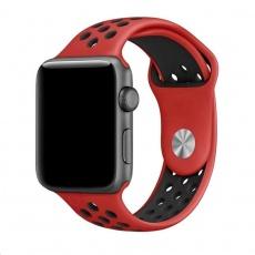 eses Silikonový řemínek 38mm/40mm S/M/L červený/černý pro Apple Watch