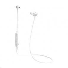 Celly BT stereo sluchátka s mikrofonem a ovládáním, bílá