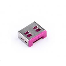 SMARTKEEPER Basic USB Port Lock 6 - 1x klíč + 6x záslepka, růžová
