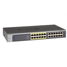 Netgear JGS524PE ProSAFE Gigabit PoE Plus Switch, 24x gigabit RJ45, z toho 12x PoE 802.3af, 100W PoE budget