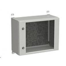 Solarix rozvaděč nástěnný venkovní LC-20 9U 600x300mm, dveře sklo, LC-20-9U-63-11-G