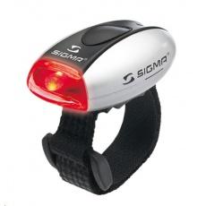 Sigma světlo na kolo MICRO stříbrná / zadní světlo LED-červená