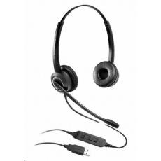Grandstream GUV3000 náhlavní souprava na obě uši s USB konektorem