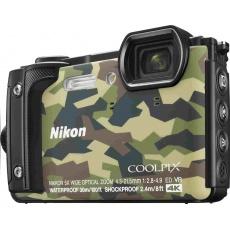 NIKON kompakt Coolpix W300, 16MPix, 5x zoom - camouflage + 2v1 plovoucí popruh