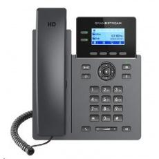 """Grandstream GRP2602 [VoIP telefon - 2.21"""" 132 x 48 grafický,  4x SIP účet, 2x RJ45 10/100 Mbps]"""