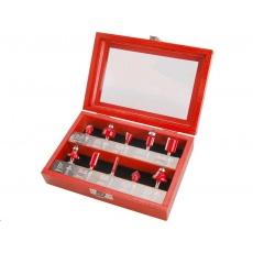 Extol Premium frézy tvarové do dřeva, s SK plátky, sada 10ks 44041